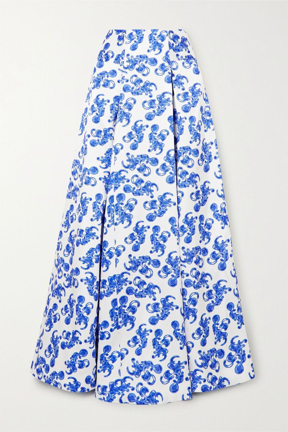 Solace London Alma printed twill maxi skirt