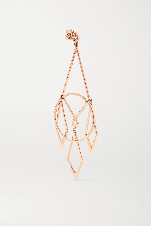 Diane Kordas 18-karat rose gold diamond earrings