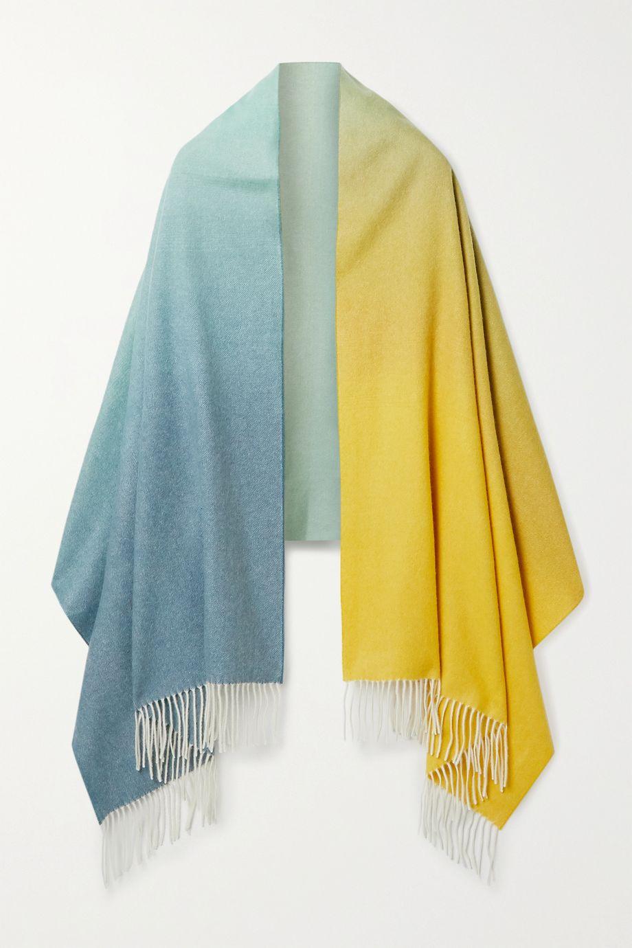 Johnstons of Elgin Fringed dégradé cashmere scarf