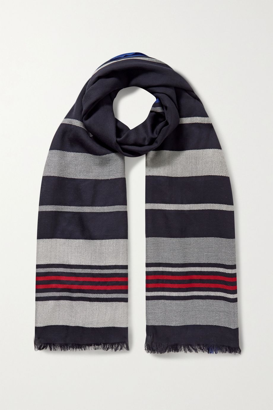 Johnstons of Elgin Striped merino wool scarf