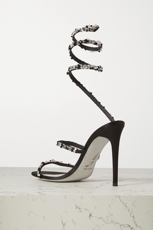 René Caovilla Cleo crystal-embellished satin sandals