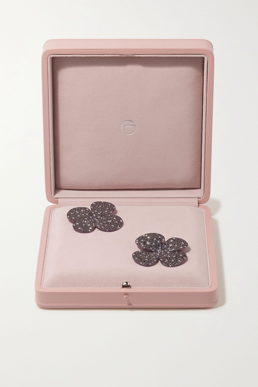 G by Glenn Spiro Clover titanium diamond earrings
