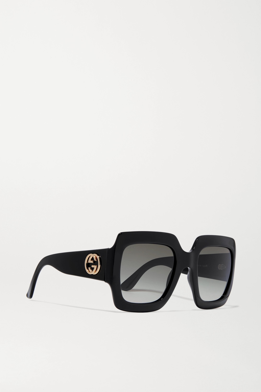 Gucci Pop Web Oversized-Sonnenbrille mit eckigem Rahmen aus Azetat