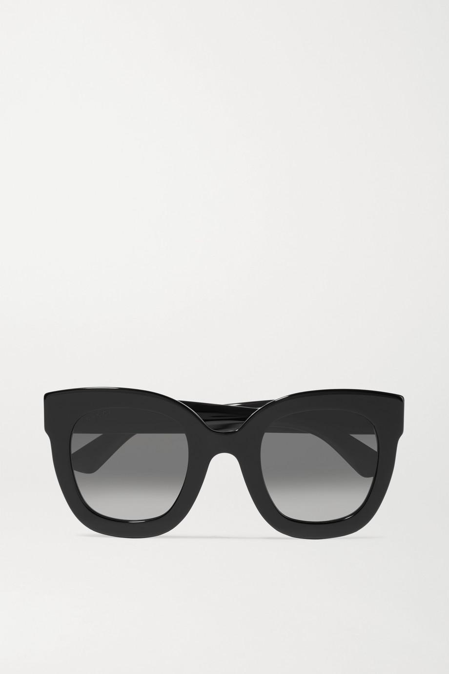 Gucci Stars oversized embellished round-frame acetate sunglasses