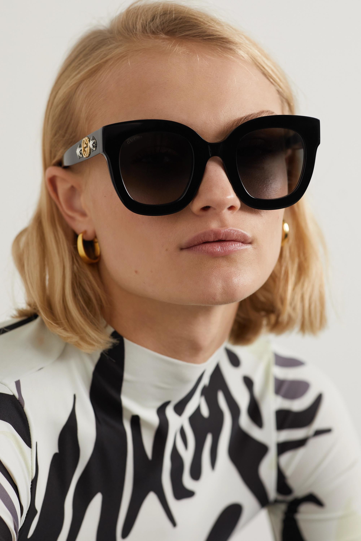 Gucci Lunettes de soleil rondes oversize en acétate à ornements Stars