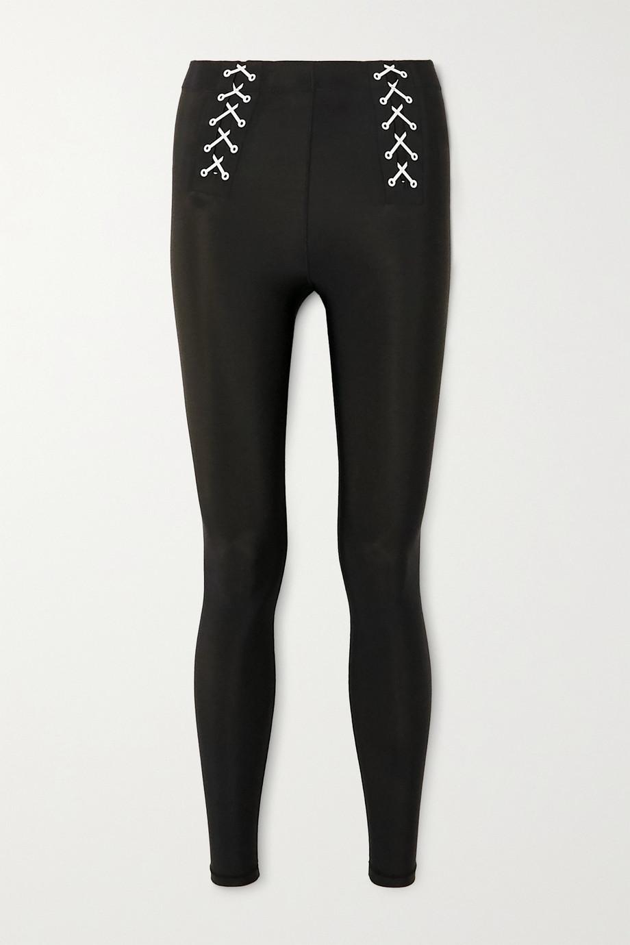 Adam Selman Sport Lace-up stretch leggings
