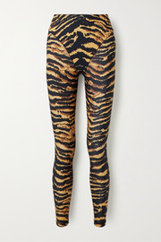Adam Selman Sport Tiger-print stretch leggings