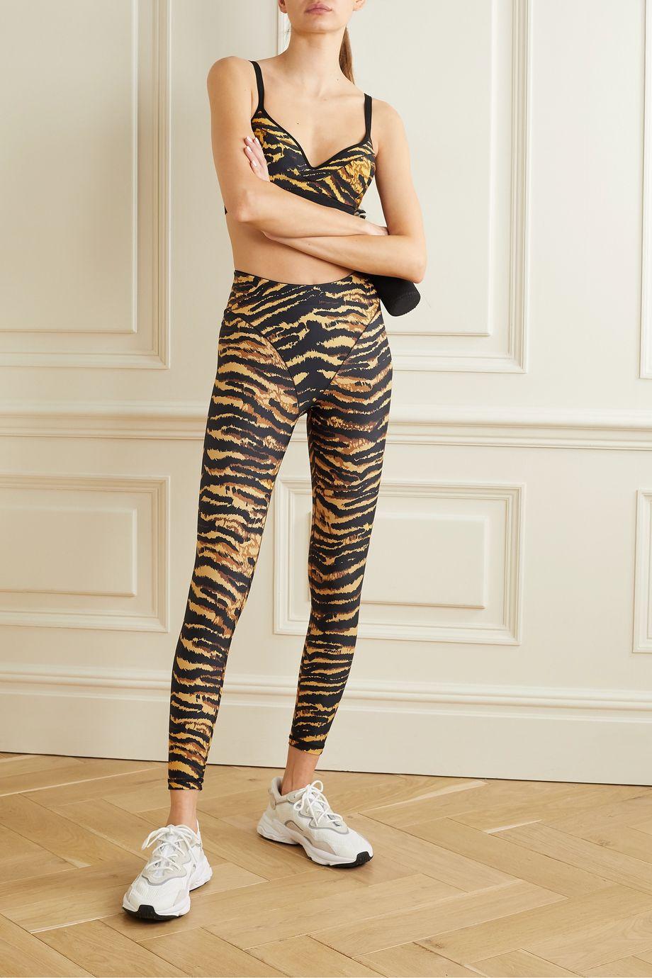 Adam Selman Sport Tiger-print stretch leggings