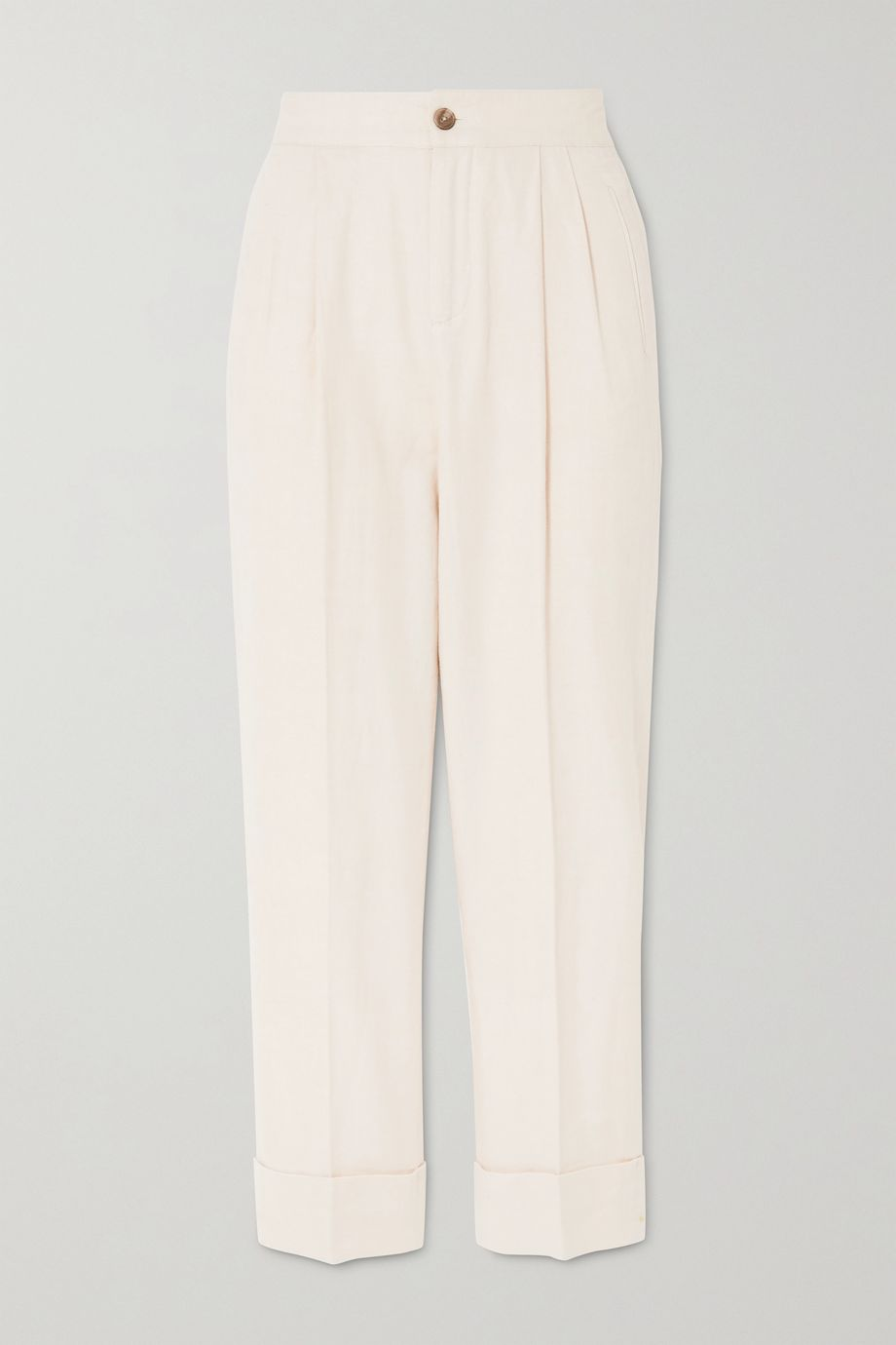 ATM Anthony Thomas Melillo Cotton and linen-blend tapered pants