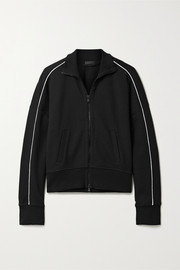 Piped jersey track jacket