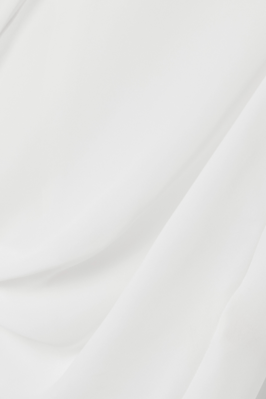 L'Agence Freja Bluse aus Seiden-Georgette mit Wickeleffekt