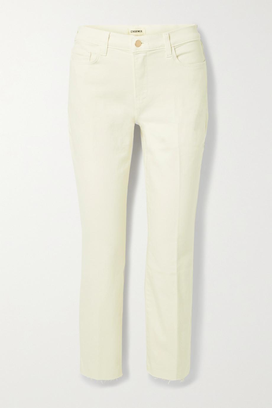 L'Agence Sada verkürzte, hoch sitzende Jeans mit schmalem Bein