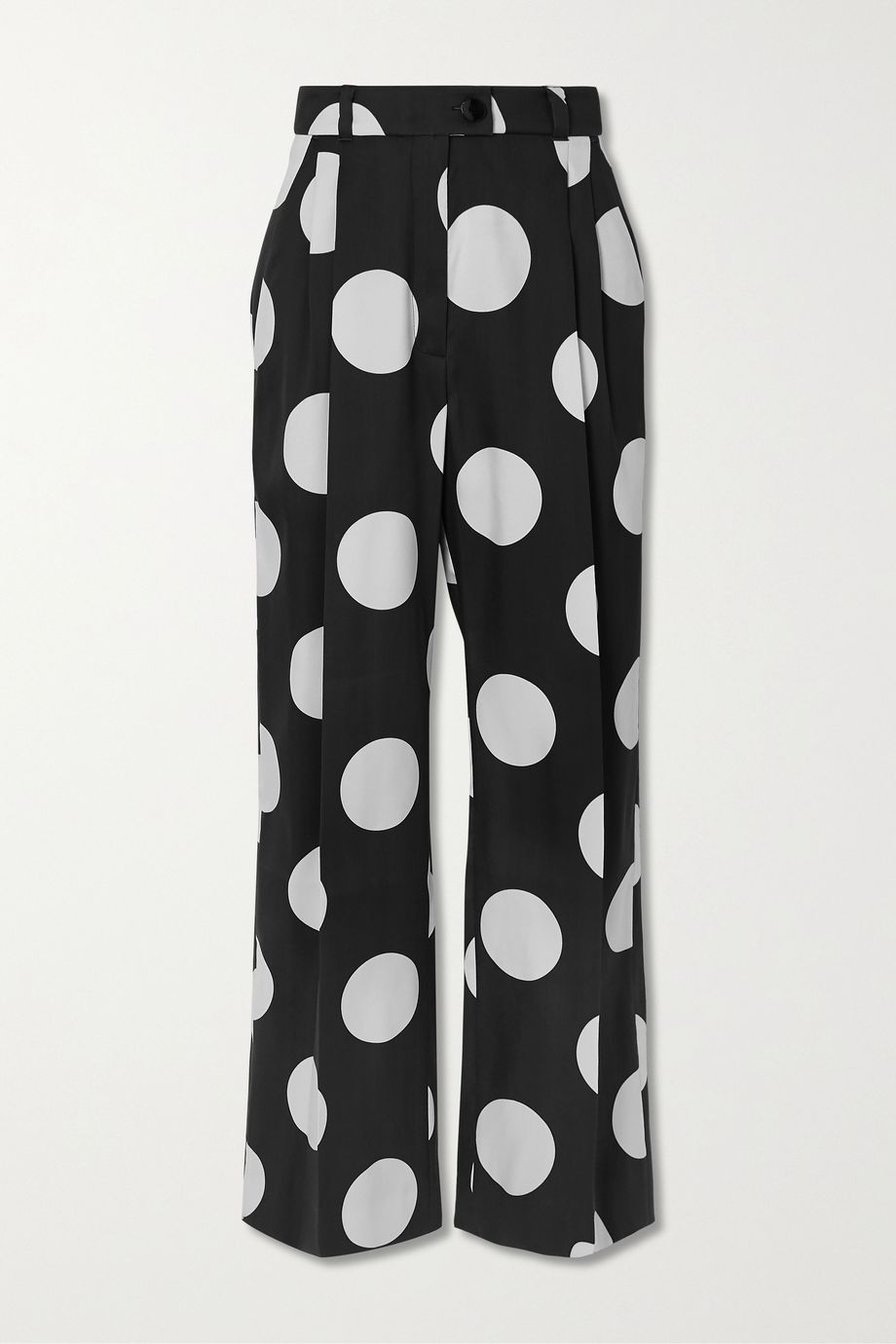 Stine Goya + NET SUSTAIN Chet polka-dot mikado straight-leg pants