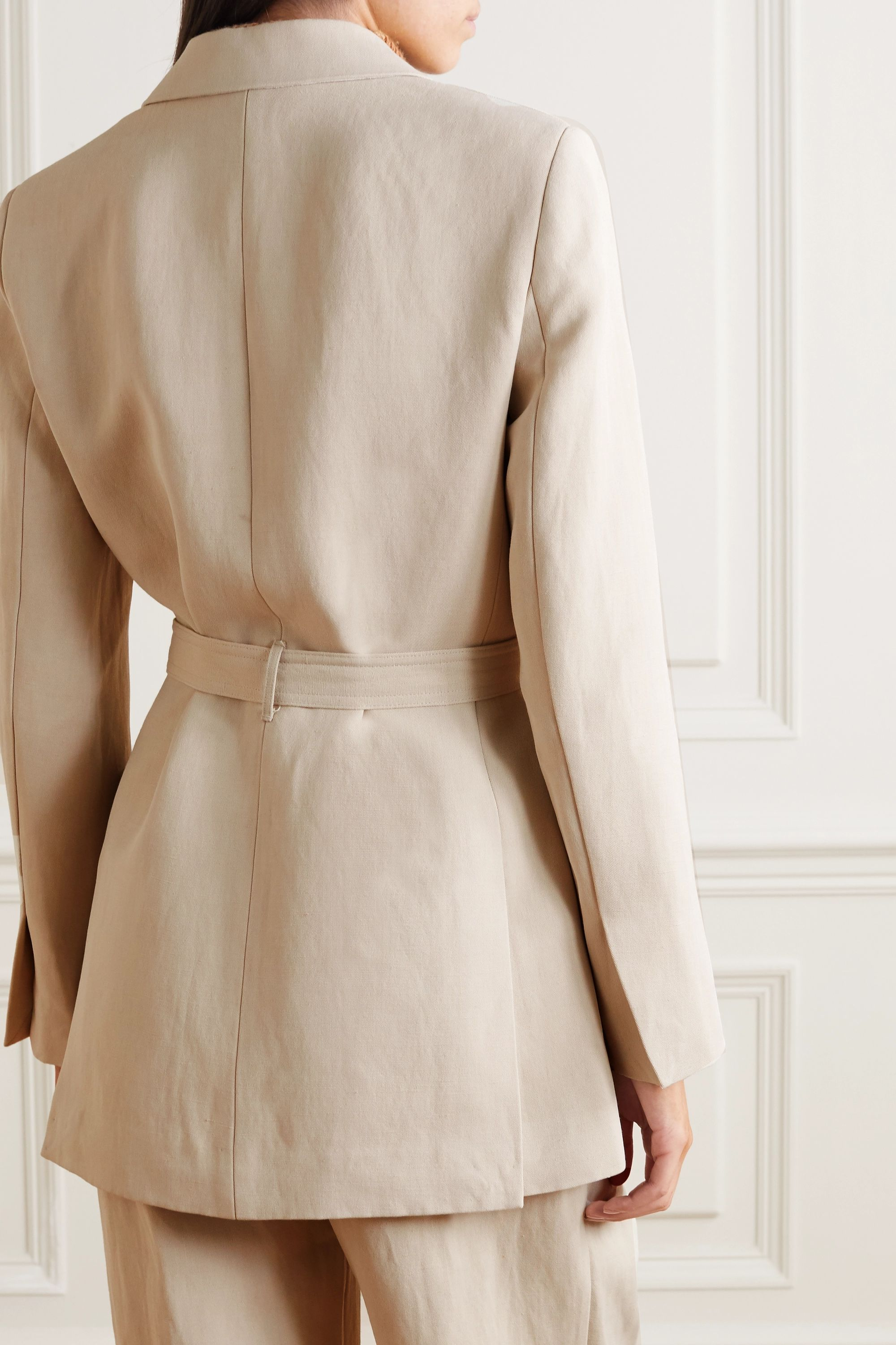 Co Belted woven blazer