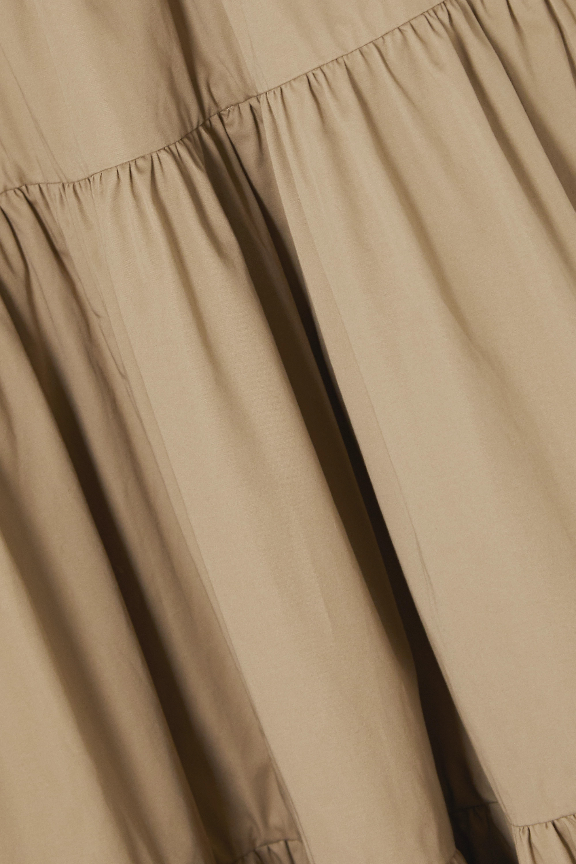 Co Tiered cotton-sateen midi dress