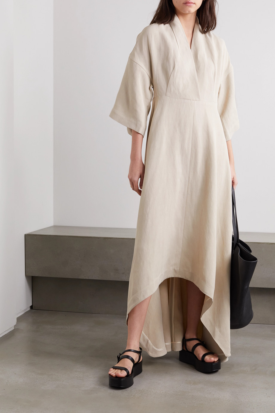Co Asymmetric twill dress