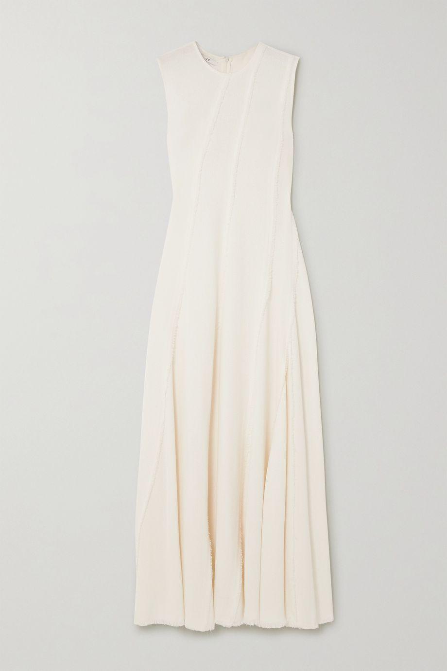 Co Frayed crepe maxi dress