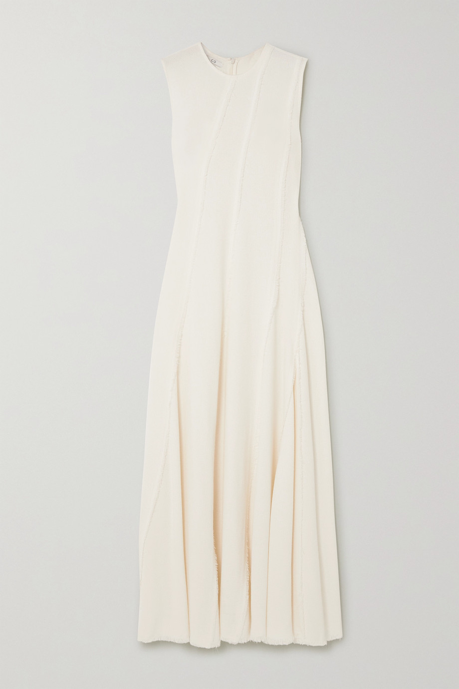 Co | Frayed crepe maxi dress | NET-A-PORTER.COM