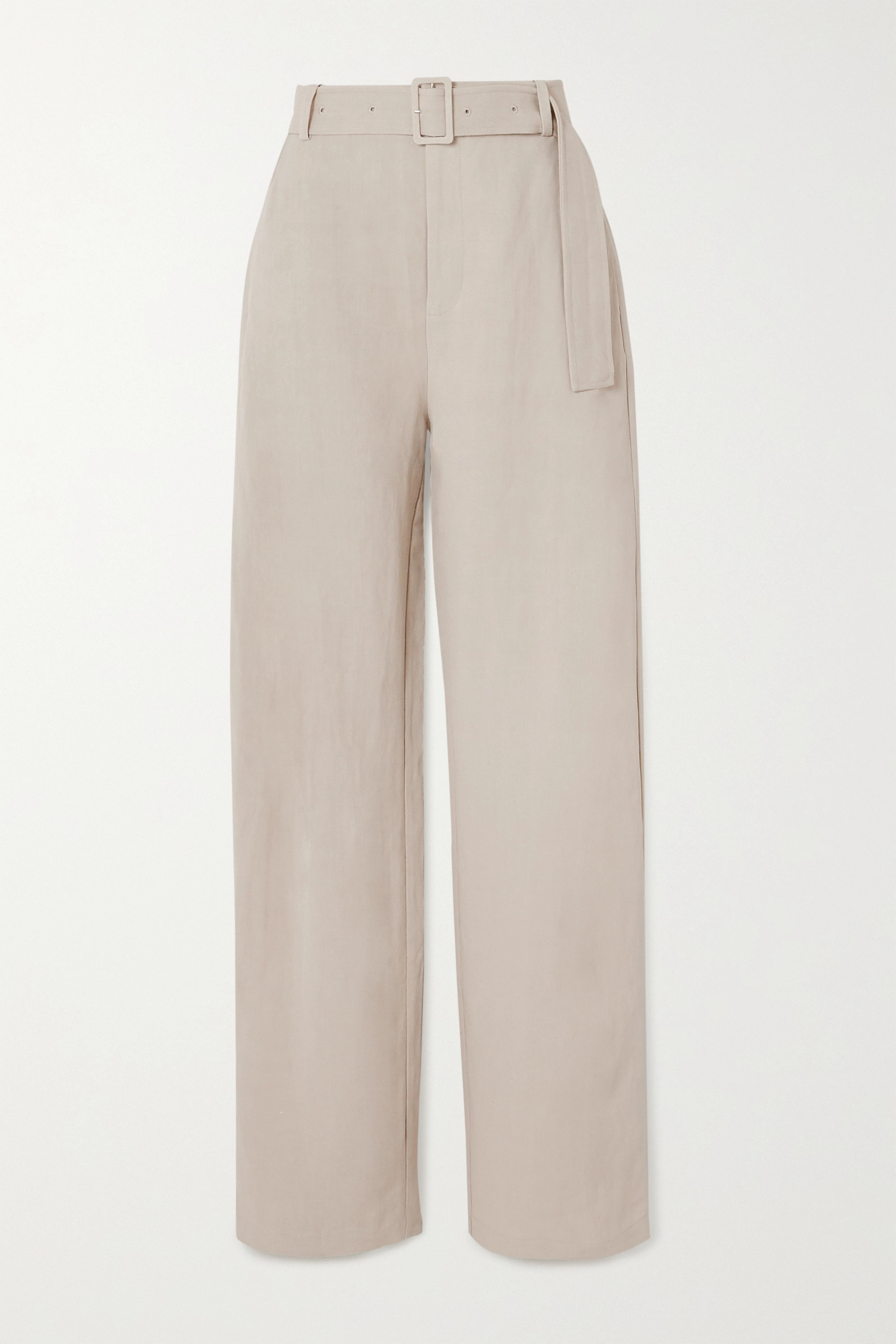 Co Belted woven wide-leg pants