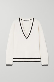 Co Two-tone wool and cashmere-blend sweater