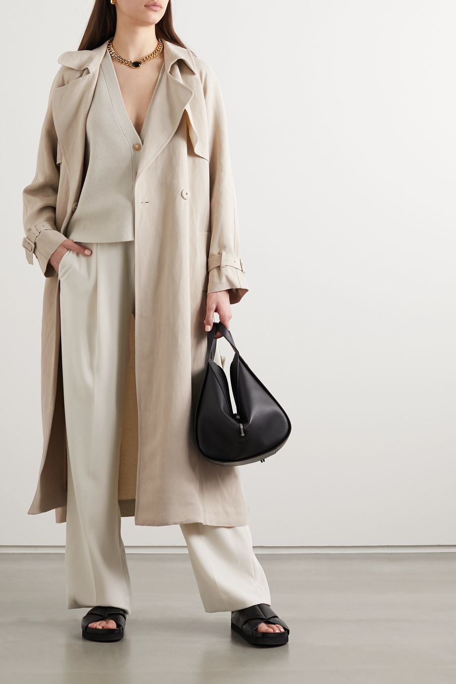 Co Woven trench coat