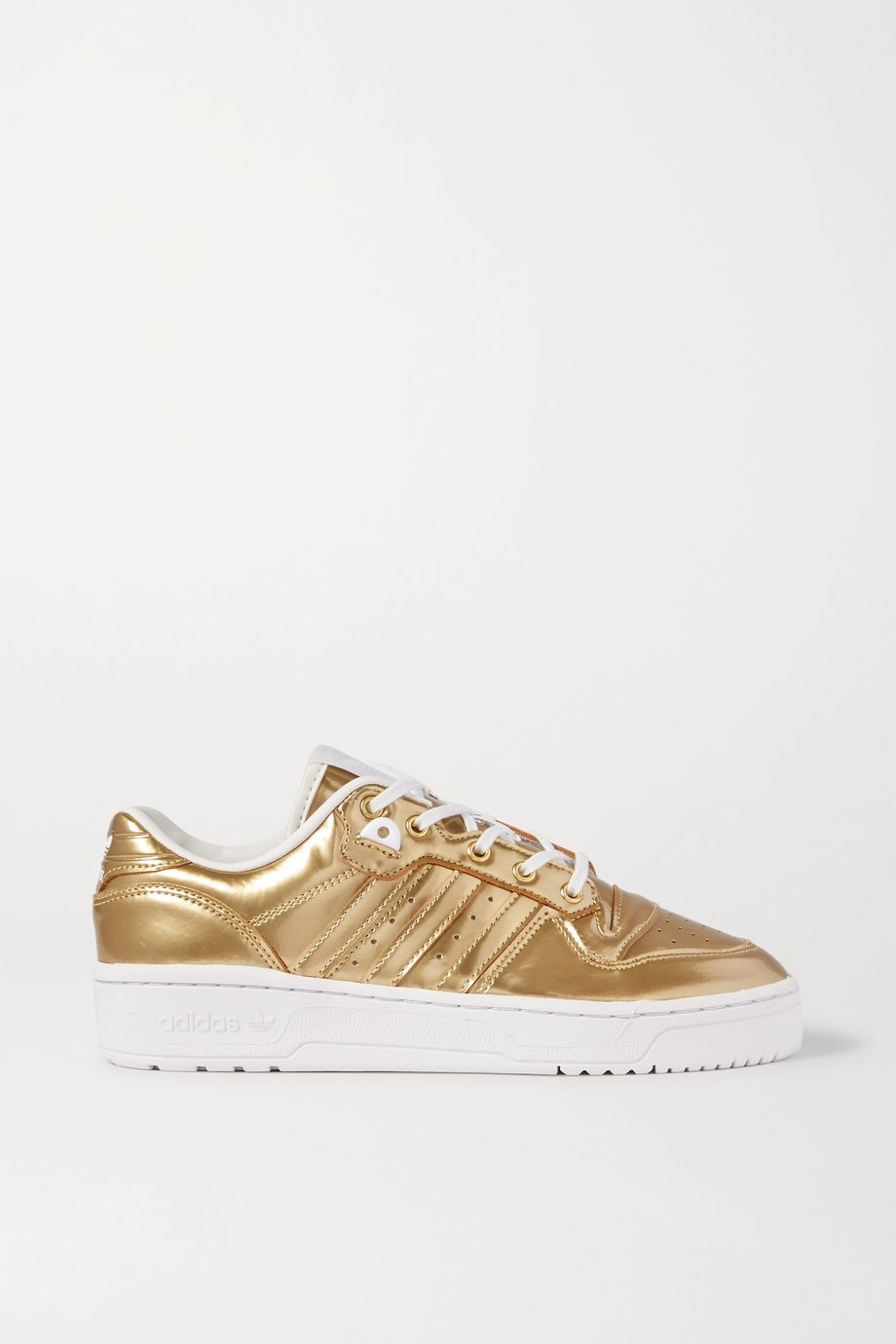 adidas Originals Rivalry Low metallic coated-canvas sneakers