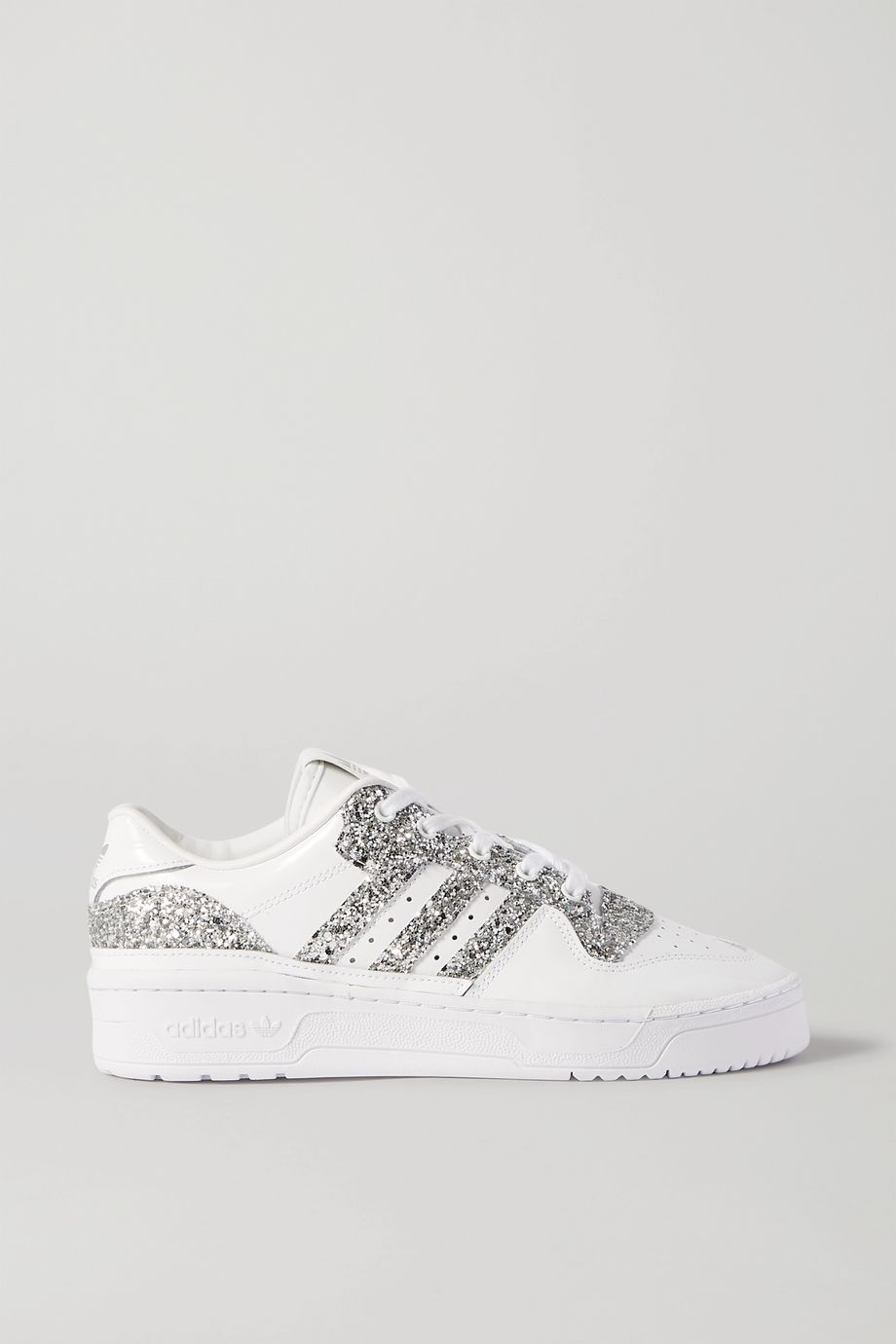 adidas Originals Rivalry Low glittered leather sneakers