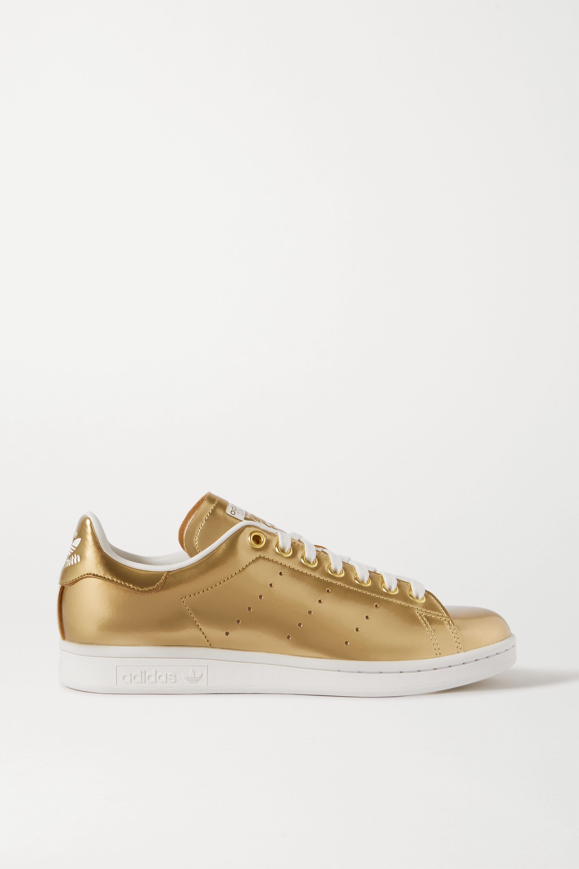 Gold Stan Smith metallic coated-canvas