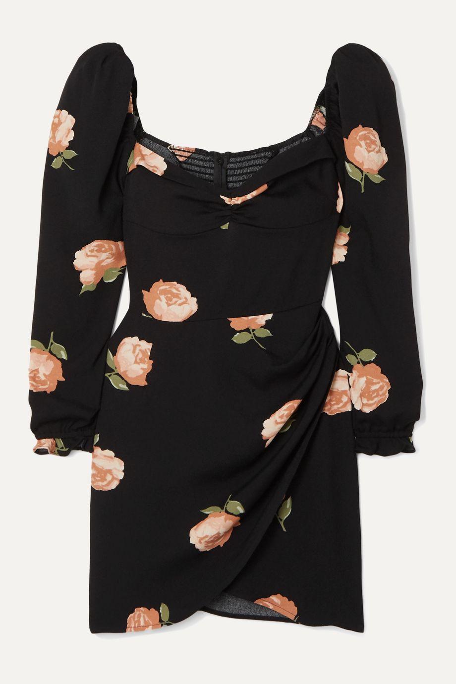 Reformation Mini-robe tissée à imprimé fleuri Amala