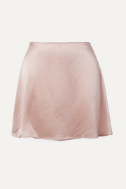 Benson silk-satin mini skirt