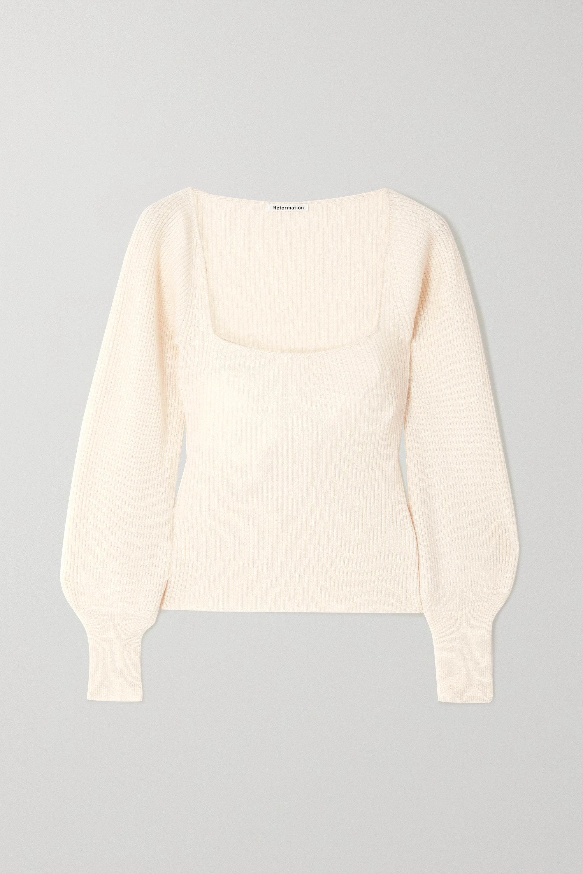 Reformation Isabel ribbed cashmere  and wool-blend sweater
