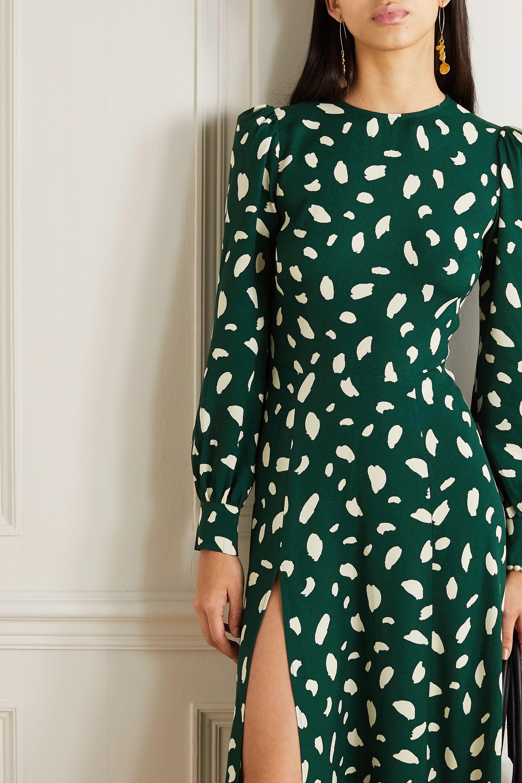 Reformation Creed printed crepe midi dress