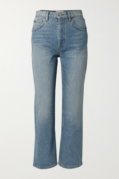 cynthia-cropped-high-rise-straight-leg-jeans by reformation