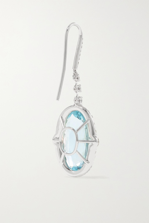 Martin Katz 18-karat white gold, aquamarine and diamond earrings