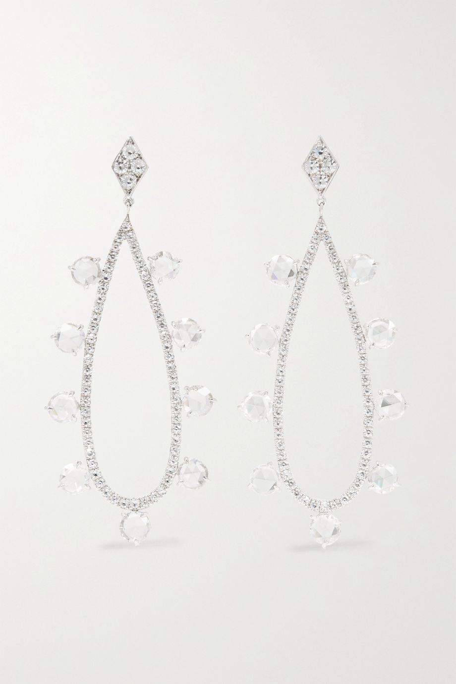Martin Katz 18-karat white gold diamond earrings