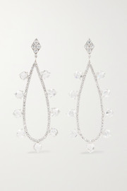 Martin Katz 18-karat white gold diamond earrings