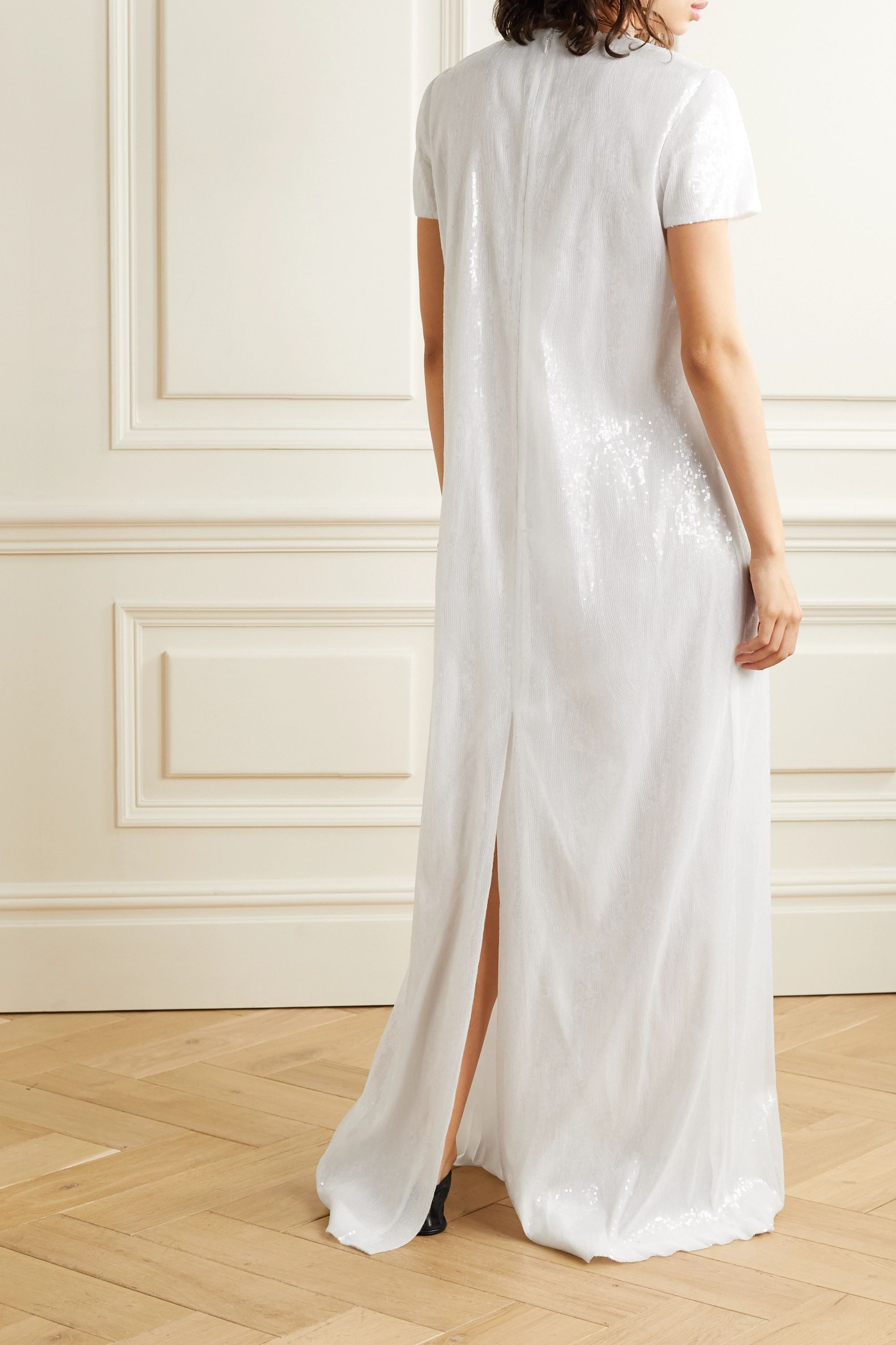 Rosetta Getty Sequined tulle maxi dress