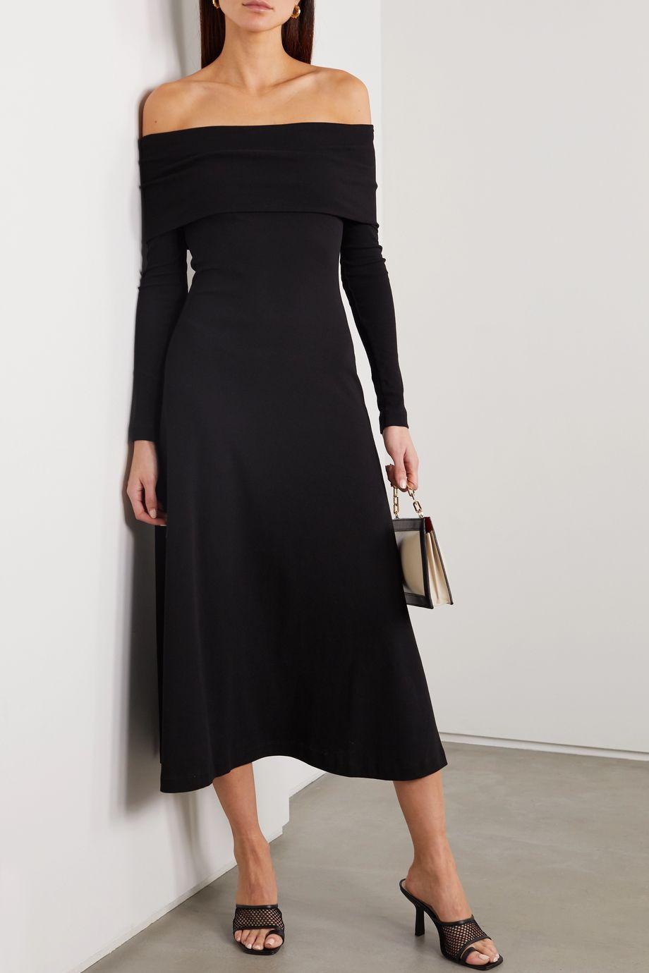 Rosetta Getty Off-the-shoulder cotton-jersey dress