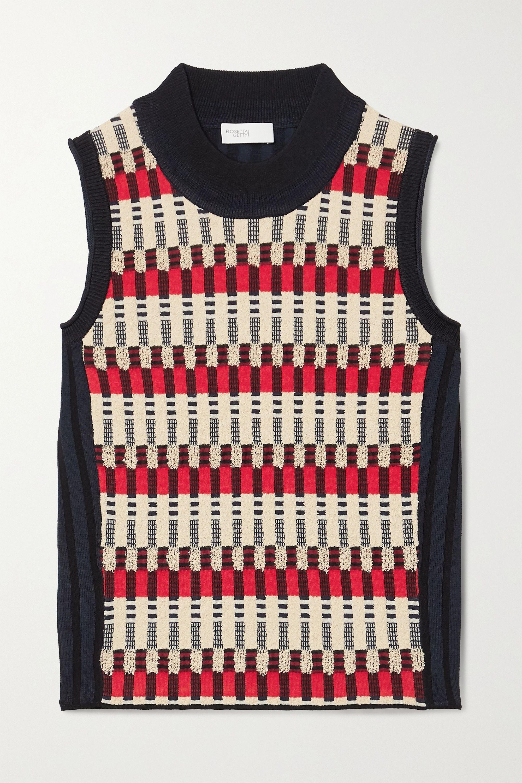 Rosetta Getty Bauhaus jacquard-knit top