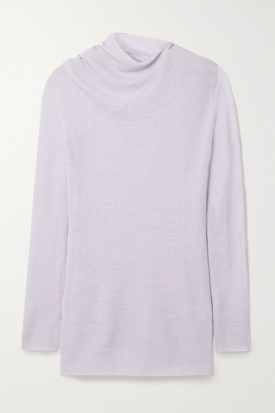 Rosetta Getty Draped ribbed wool-blend sweater