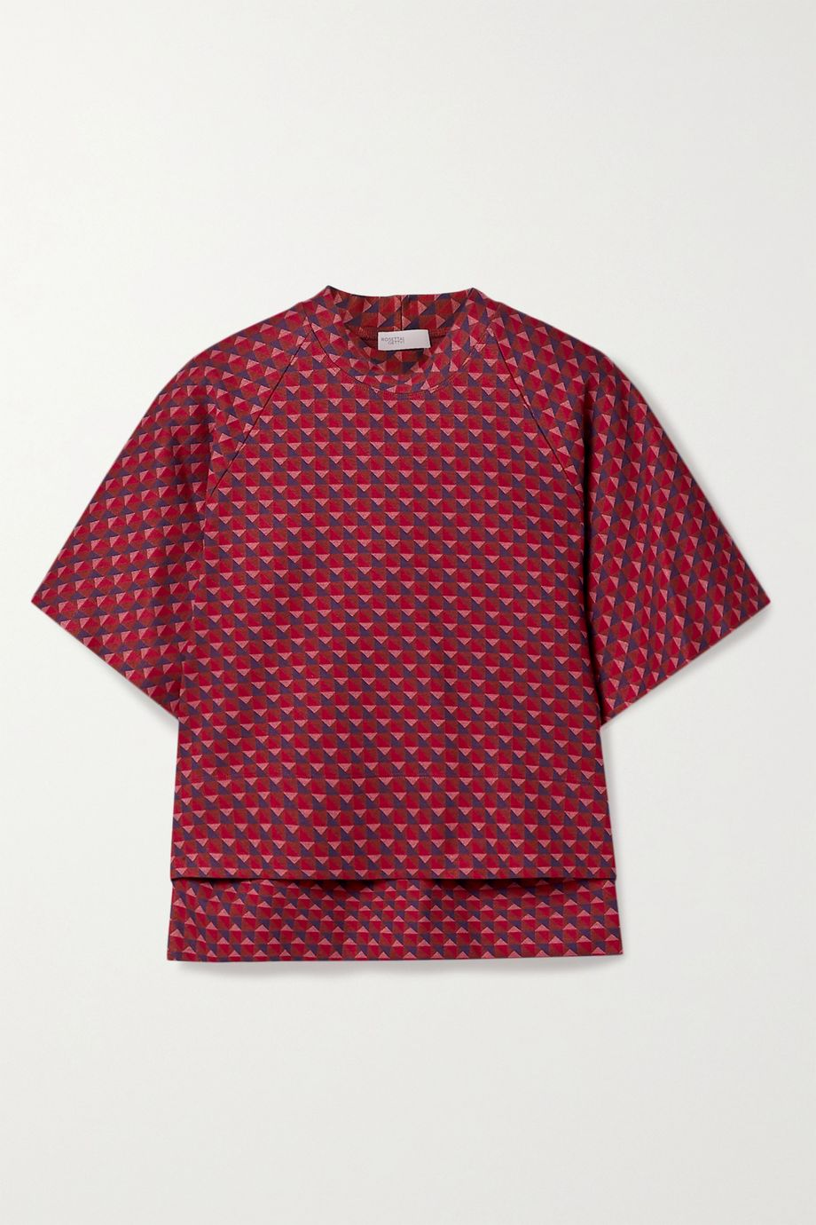 Rosetta Getty Cocoon jacquard-knit top
