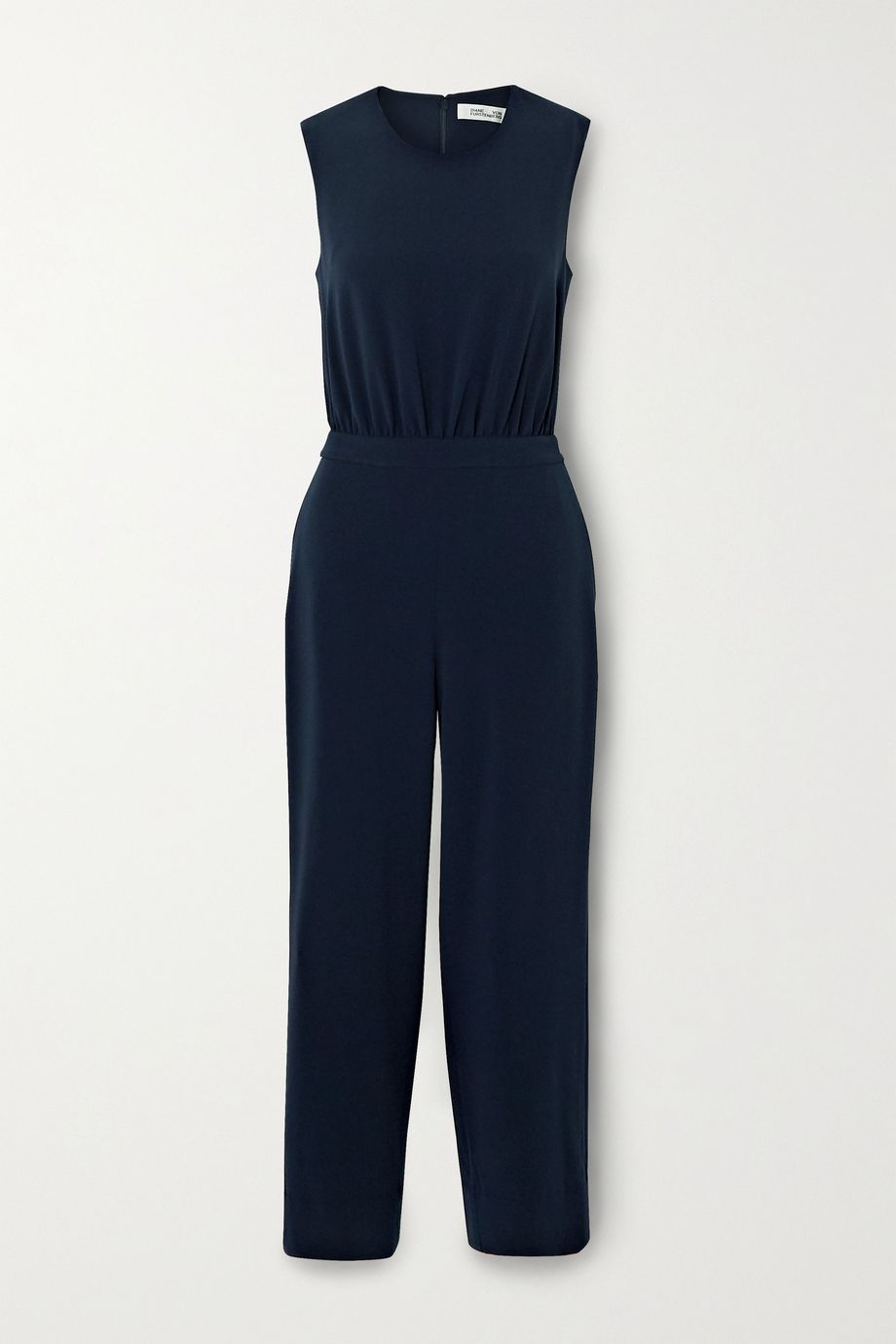 Diane von Furstenberg Waverly cropped cutout crepe jumpsuit