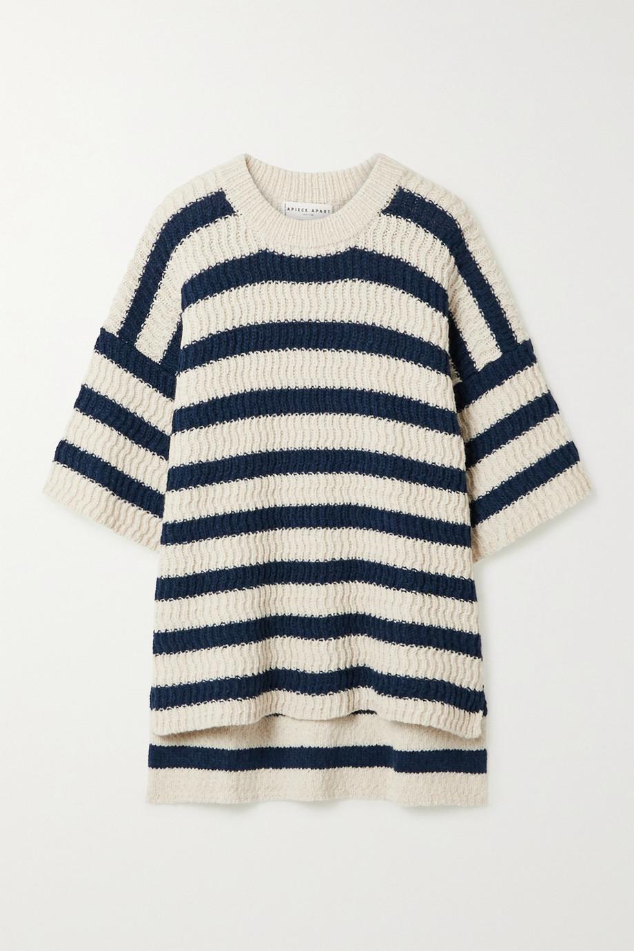 APIECE APART Oversized striped alpaca-blend sweater