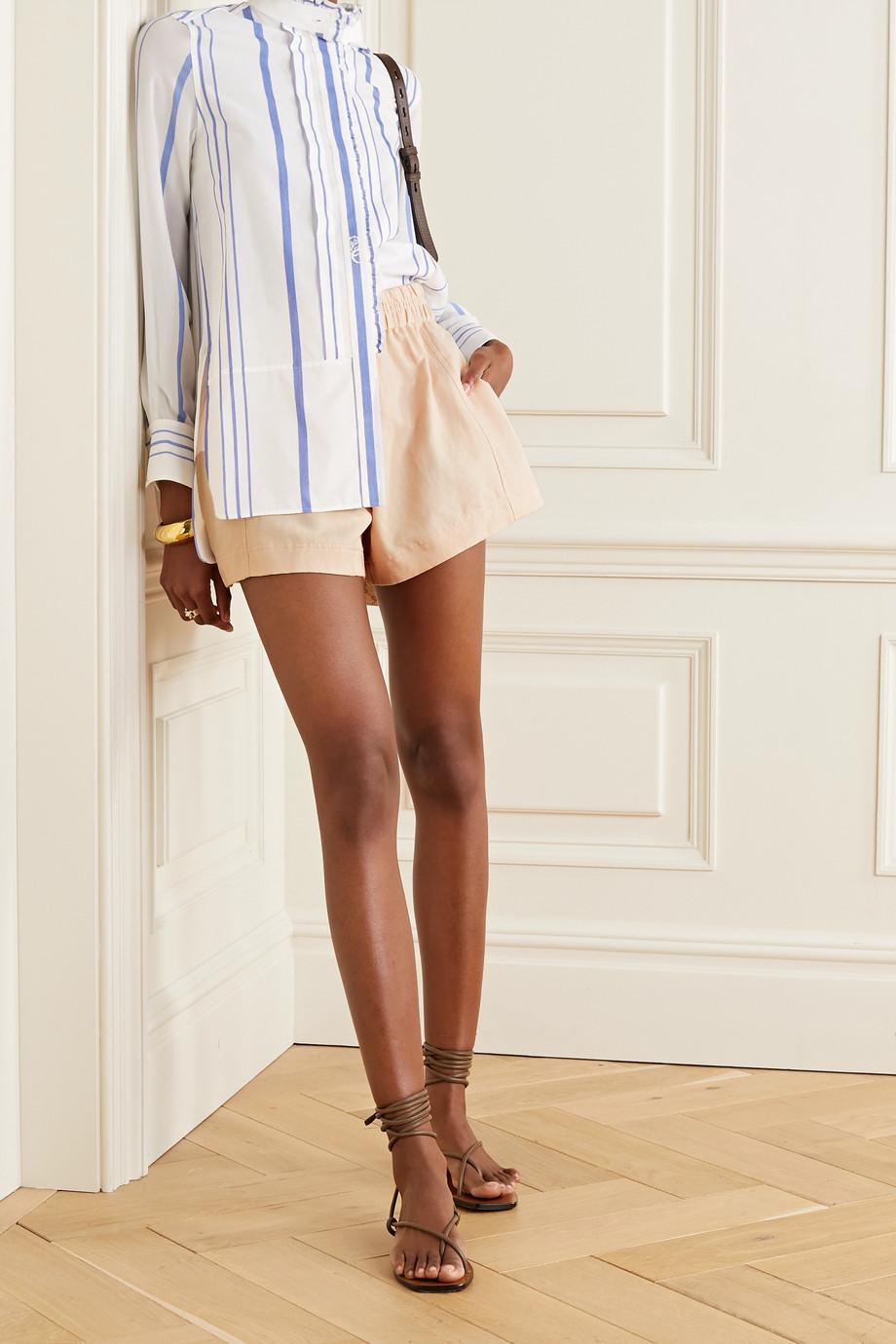 APIECE APART Denys linen and cotton-blend twill shorts