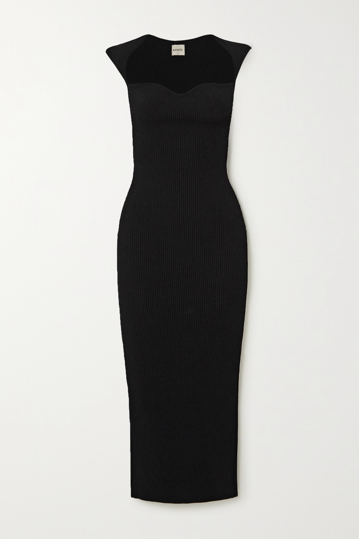 Khaite Allegra ribbed-knit midi dress