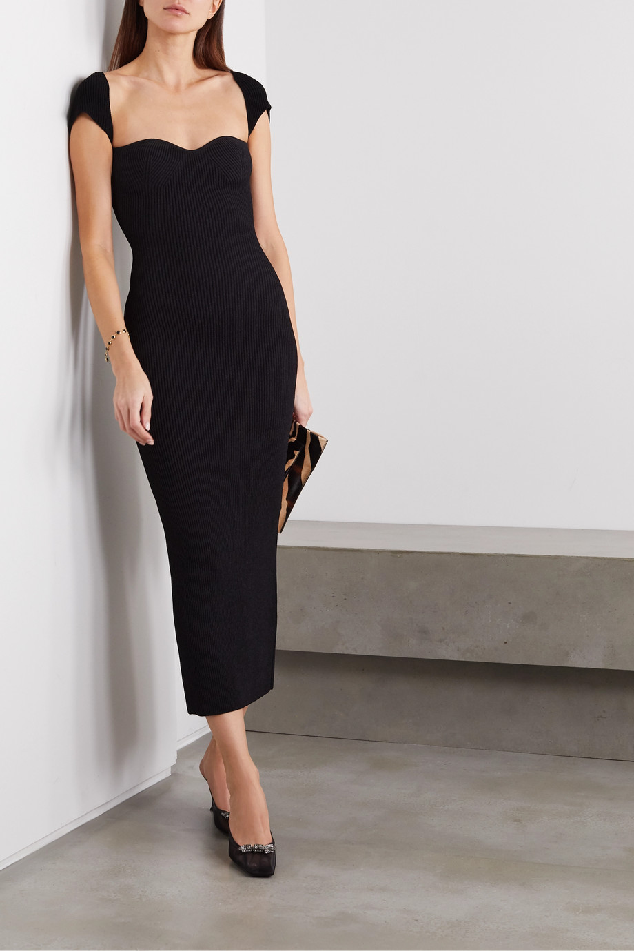 Khaite Allegra ribbed-knit midi dress