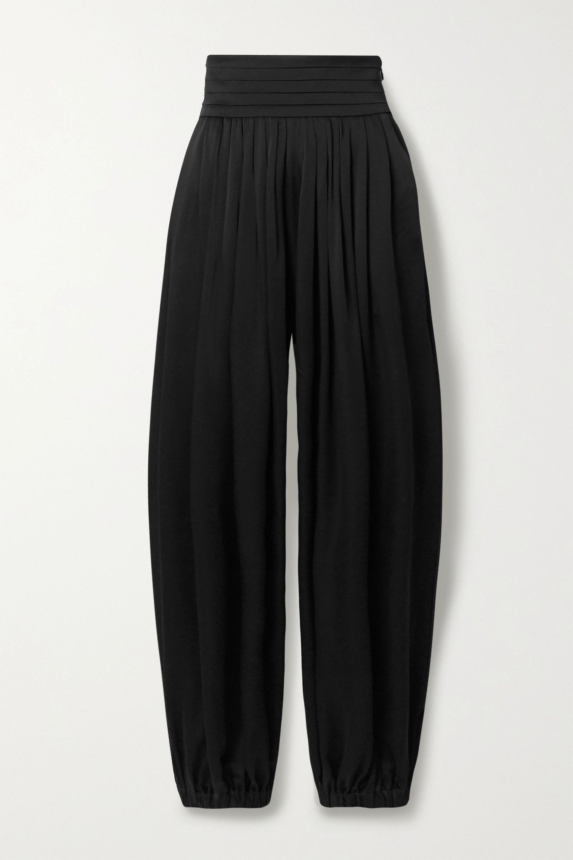 Khaite Rosie pleated satin-crepe pants