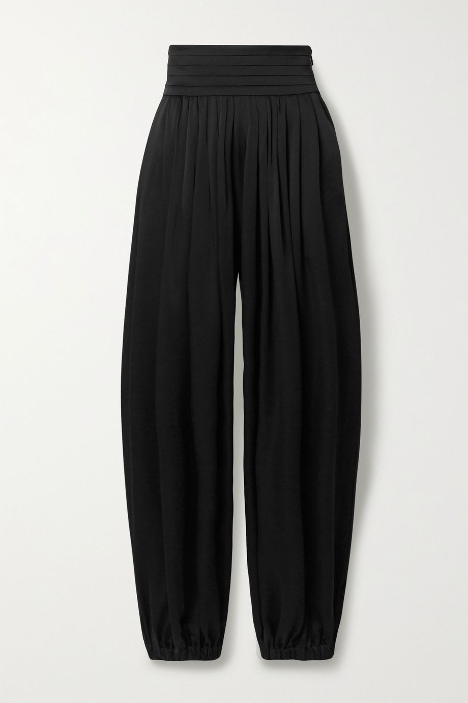 Khaite Rosie pleated satin-crepe pants