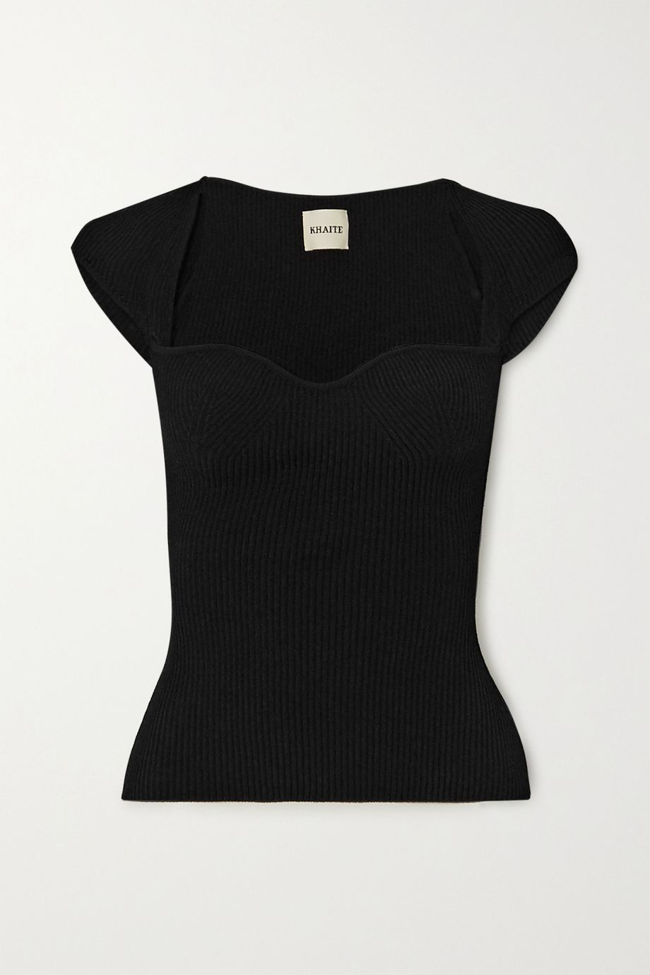 Khaite Ista ribbed-knit top