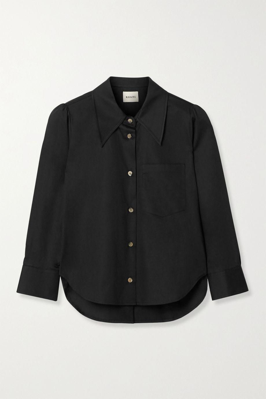 Khaite Kaylie cotton-poplin shirt